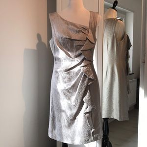 Suzi Chin for Maggy Boutique silver dress
